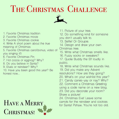 December/Christmas blogging challenge