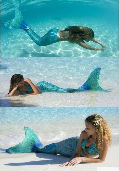 Fin Fun Aussie Green Mermaid Tail